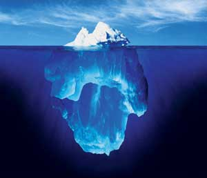 Process of counselling or process psychotherapy, what is counselling in central London, Camden Town - iceberg