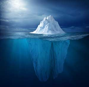 Counselling in London, psychotherapy in Camden - internal dialogue, self-beliefs, mind as an iceberg