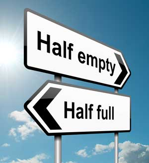 Counselling in London, psychotherapy in London - pessimism, optimism, pessimist, optimist - glass half full or half empty