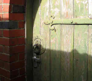 Relationship counselling in London, Camden, Kings Cross - love addiction, obsessive love, fear of commitment, fear of rejection, Author: Crabchick, Title: Back door of old school, Sharpness, Gloucestershire